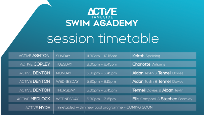 Tameside Swim Academy timetable