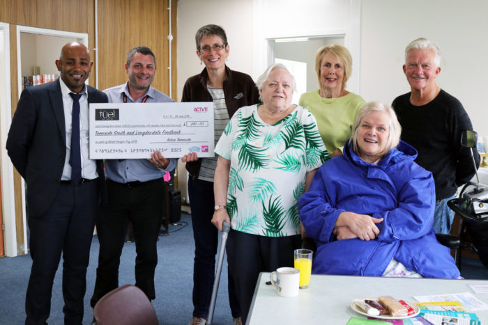Active Tameside donate to local food bank