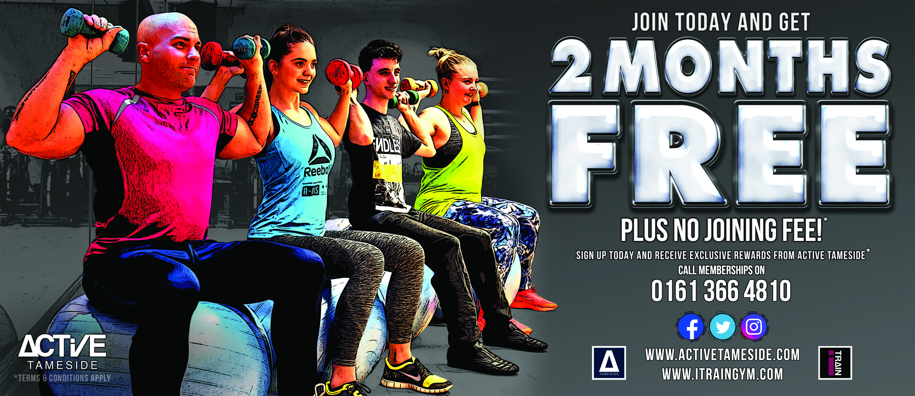 Get 2 months free with Active Tameside