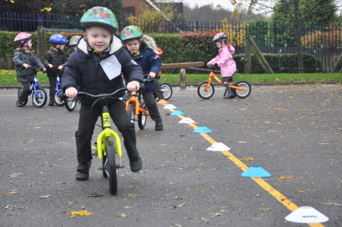 Active Tameside cycling sessions in schools