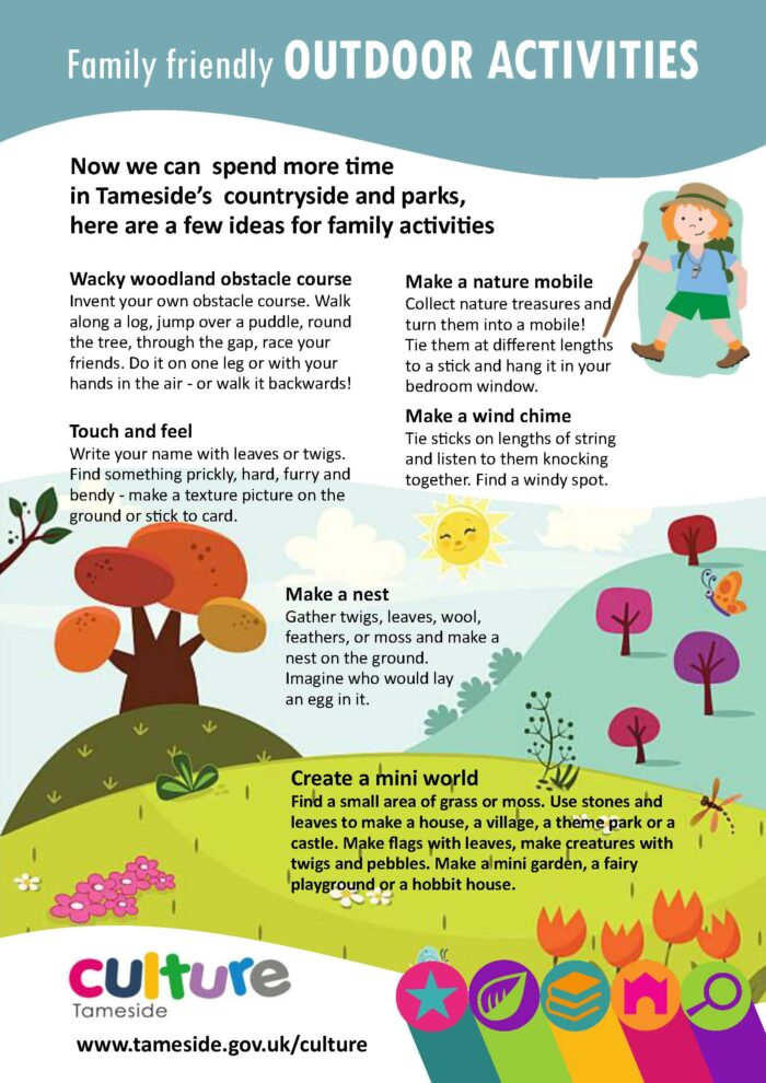 Outdoor family activities in Tameside