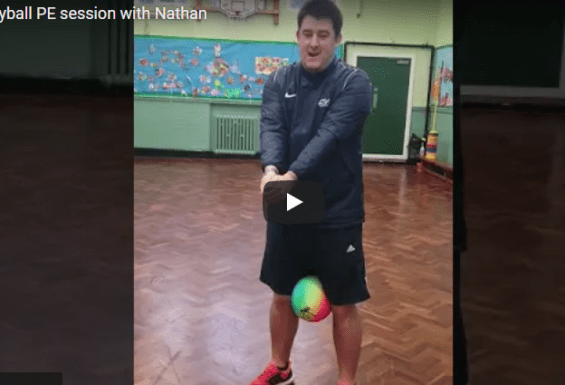 Volleyball PE Lesson with Nathan