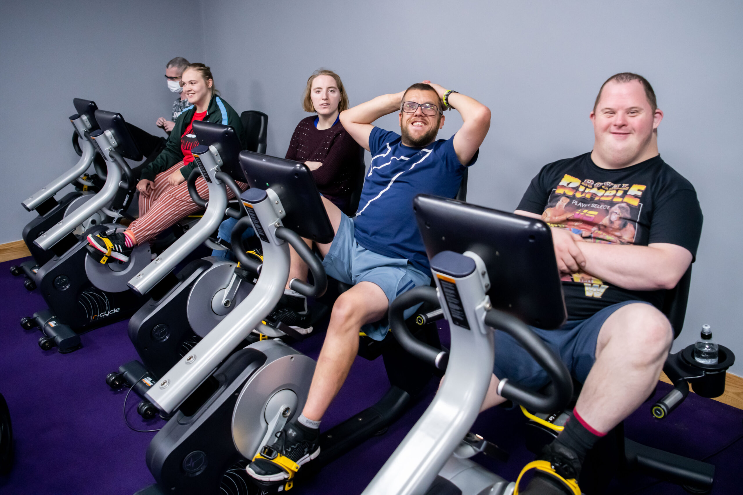 Everybody Can service users enjoying a session in the gym