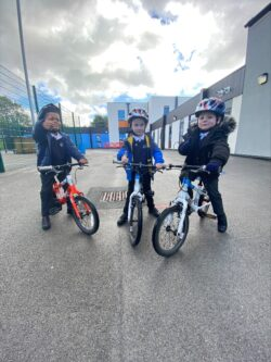 Cycling coaching at Silver Springs Primary Academy